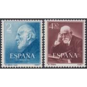 España Spain 1119/20 1952 Ramón y Cajal MNH