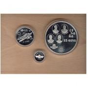 España Spain 1997 Estuche Euros conmemorativos Aviación española Colección completa  plata FNMT