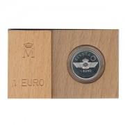 España Spain 1997 Estuche Euros conmemorativos Aviación Moneda 1 € plata FNMT