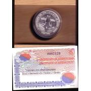 España Spain 1998 Estuche Euros conmemorativos  Descubrimiento tierra firme Moneda 3€ plata FNMT