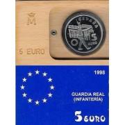 España Spain 1998 Estuche Euros conmemorativos 1998 Ejército Moneda 5€ FNMT