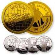 España Spain Monedas Euros conmemorativos Fútbol 2002 colección completa oro y plata