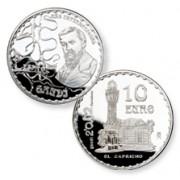 España Spain Monedas Euros conmemorativos 2002 Gaudí 10 euros Plata El capricho