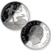 España Spain monedas Euros conmemorativos de JJOO Invierno 2002 10 euros Plata