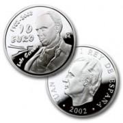 España Spain monedas Euros conmemorativos de 2002 Luis Cernuda 10 euros Plata