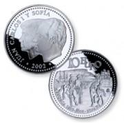 España Spain monedas Euros conmemorativos de 2002 Menorca 10 euros Plata