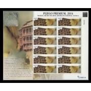 España Pliego Premium 3 2014 Museo de Cuenca Casas Colgadas Abstracto MNH