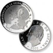 España Spain monedas Euros conmemorativos de 2002 Presidencia Unión Europea 10 euros Plata