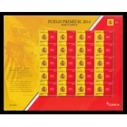 España Pliego Premium 4 2014 Marca España Escudo Bandera MNH