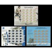 España Pliego Premium 11/13 2014 75º Aniv. ONCE Agencia EFE y Ejército MNH