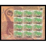España Pliego Premium 22 2015 Dinosaurios Tiranosaurio Fosil Sello 3D MNH