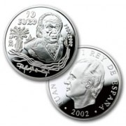 España Spain monedas Euros conmemorativos de 2002 Rafael Alberti 10 euros Plata