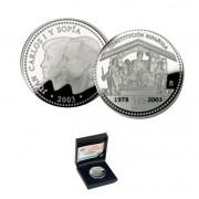 España Spain monedas Euros conmemorativos de 2003 25º Aniversario Constitución 10 euros Plata