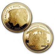 España Spain monedas Euros conmemorativos de 2003 25º Aniversario Constitución 200 euros Oro