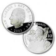 España Spain monedas Euros conmemorativos de 2003 Miguel López de Legazpi 10 euros Plata