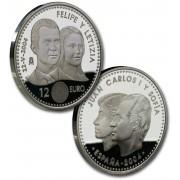 España Spain monedas Euros conmemorativos 2004 12 euros Boda Príncipes Plata
