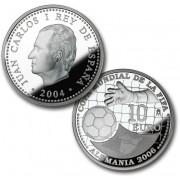 España Spain monedas Euros conmemorativos 2004 Copa Mundial de la FIFA Alemania 2006 10 Euros Plata