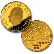 España Spain monedas Euros conmemorativos 2004 Copa Mundial de la FIFA Alemania 2006 100 Euros Oro