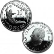 España Spain monedas Euros conmemorativos 2004 Copa Mundial de la FIFA Alemania 2006 10 Euros Plata 1ª tirada
