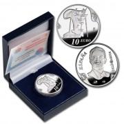 España Spain monedas Euros conmemorativos 2004 Dalí 10 euros Autorretrato Plata