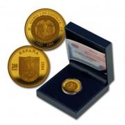 España Spain monedas Euros conmemorativos 2004 Vº Centenario de la muerte de Isabel Catolica 200 euros Oro