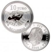 España Spain monedas Euros conmemorativos 2005 Paz y Libertad 10 euros Plata