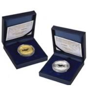 España Spain monedas Euros conmemorativos 2005 Paz y Libertad 10 euros plata y 200 euros oro, completo