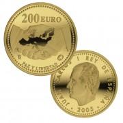 España Spain monedas Euros conmemorativos 2005 Paz y Libertad 200 euros oro