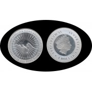 Australia   2016  1oz  1 $ Canguro  Plata Proof