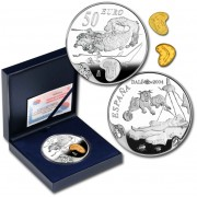 España Spain 2004 Dalí 50€ plata proof Abeja Rinoceróntica