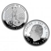 España Spain monedas Euros conmemorativos 2006 CAMPEONES DEL MUNDO BALONCESTO 10 euros Plata