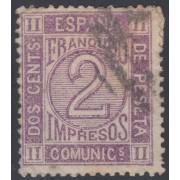 España Spain Variedad 116A 1872 Cifras Numbers Usado