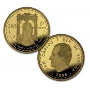 España Spain monedas Euros conmemorativos 2006  CARLOS V 200 euros Oro Personajes Europeos