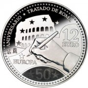 España Spain monedas Euros conmemorativos 2007 12 euros Plata