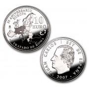 España Spain monedas Euros conmemorativos 2007 50 Aniversario Tratado de Roma 10 euros Plata