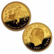 España Spain monedas Euros conmemorativos 2007 50 Aniversario Tratado de Roma 200 euros Oro