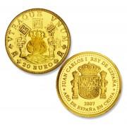 España Spain monedas Euros conmemorativos 2007 Año de España en China  20 euros Escudo Constitucional