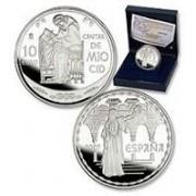España Spain monedas Euros conmemorativos 2007 Cantar Mio Cid 10 euros Plata