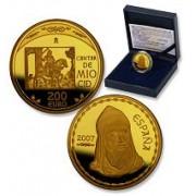 España Spain monedas Euros conmemorativos 2007 Cantar Mio Cid 200 euros Oro