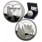 España Spain monedas Euros conmemorativos 2007 Cantar Mio Cid 50 euros Plata