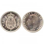 España Juan Carlos 5 Pesetas JC 1989 Madrid