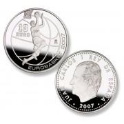 España Spain monedas Euros conmemorativos 2007 Eurobasket 07 10 euros Salto a canasta Plata