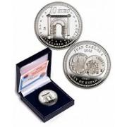 España Spain monedas Euros conmemorativos 2007 V Aniversario del Euro 10 euros Arco Plata
