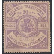 España Spain Recargo Transitorio Cartuchería Extranjera 1898 Pólvora