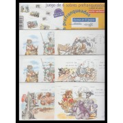 España Spain Sobres Oficiales 1/24 1999 Escenas del Quijote Circulado