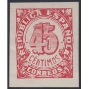 España Spain NE 30s 1938 No Emitidos No Expendidos Cifras MNH