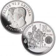 España 2015  30 Euros de plata IV Centenario de El Quijote