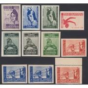 España Franquicias Variedad 19/22 Pruebas de Color 1931 Cortes Constituyentes