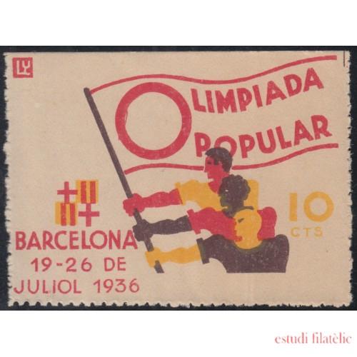 España Spain Viñeta Barcelona 1936 Fesofi 49 Olimpiada Popular