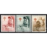 España Spain 1121/23 1953 ProTuberculosos MNH